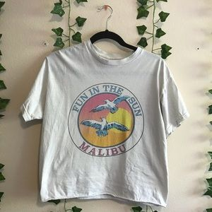 Brandy Melville Fun In the Sun Malibu T-Shirt